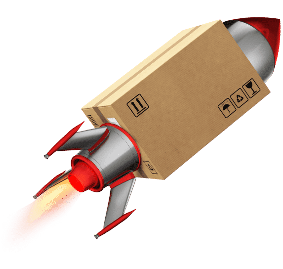delivery image with rocket
